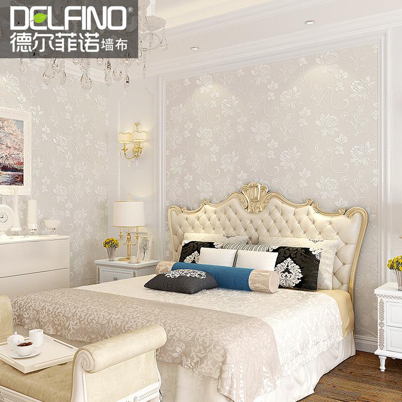 无缝墙布卧室温馨高档现代简约墙纸客厅电视背景壁纸提花欧式壁布