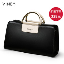 Viney Bag 2019 New Handbag Genuine Leather Bag Baidan Single Shoulder Bag Slanting Big Bag 2019 Fashion