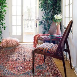 美式轻奢复古欧式波斯地毯 新中式客厅卧室床边柔软地毯