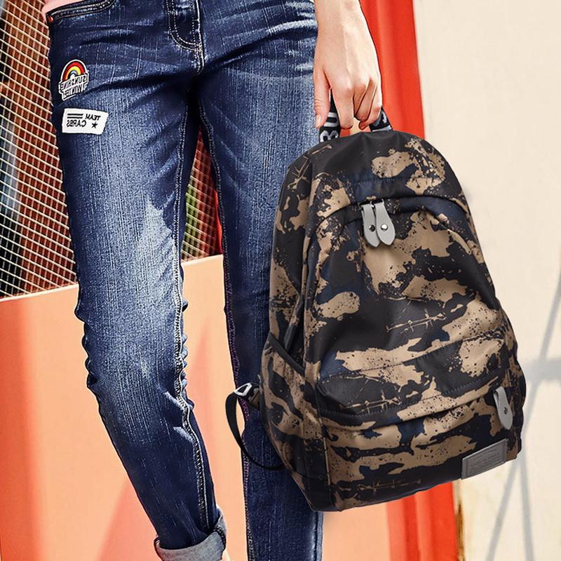 Xinyi backpack light waterproof camouflage printing anti-theft backpack large capacity student schoolbag Travel Backpack