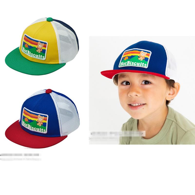 2021新款mikihouseHB儿童童趣透气网眼遮阳帽鸭舌帽72-9102-382
