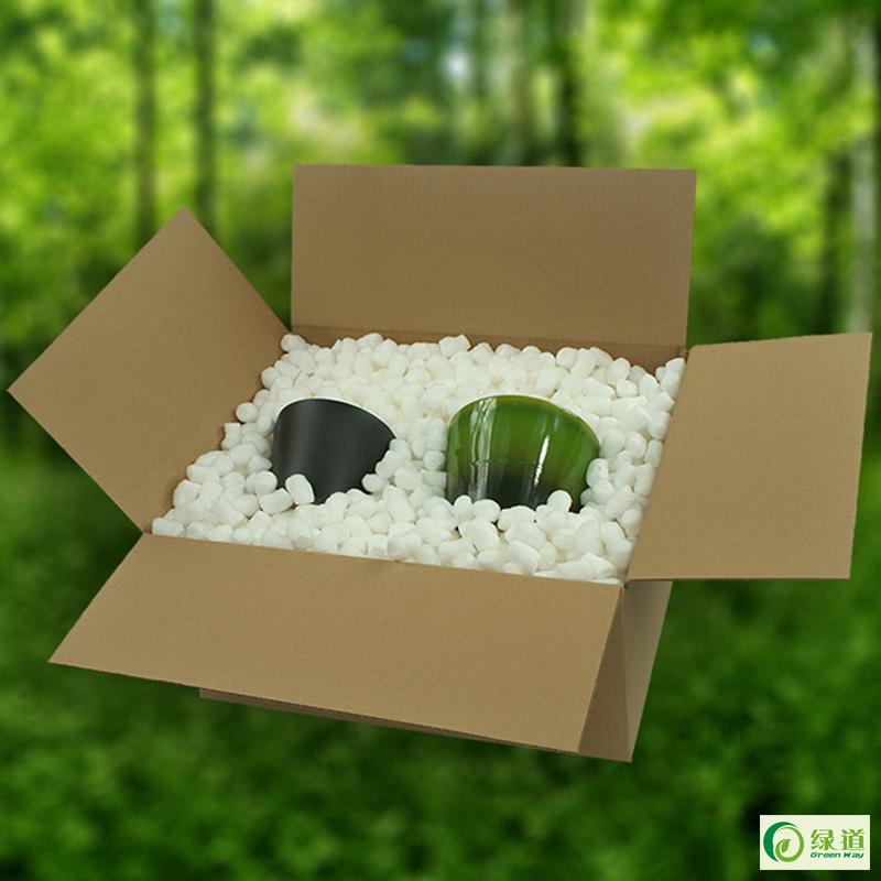 绿道彩色水溶发泡胶化妆品纸箱打包泡沫粒防震抗压防摔缓冲泡泡粒