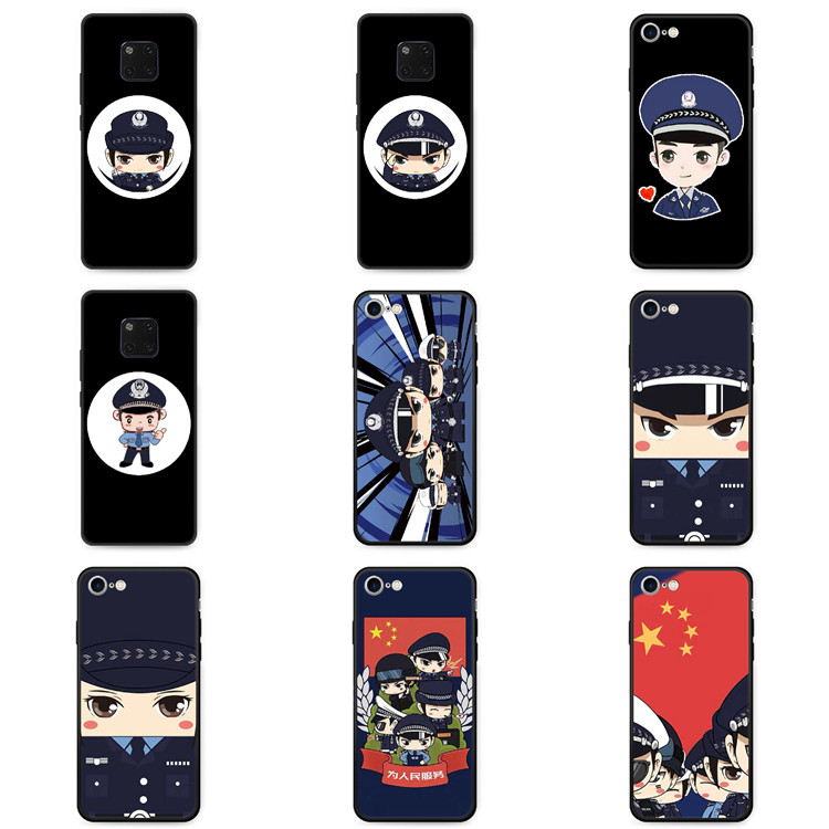 Suitable for Huawei glory V30 mobile phone case 20pro to enjoy 10plus / 9i / 8x / 7 police