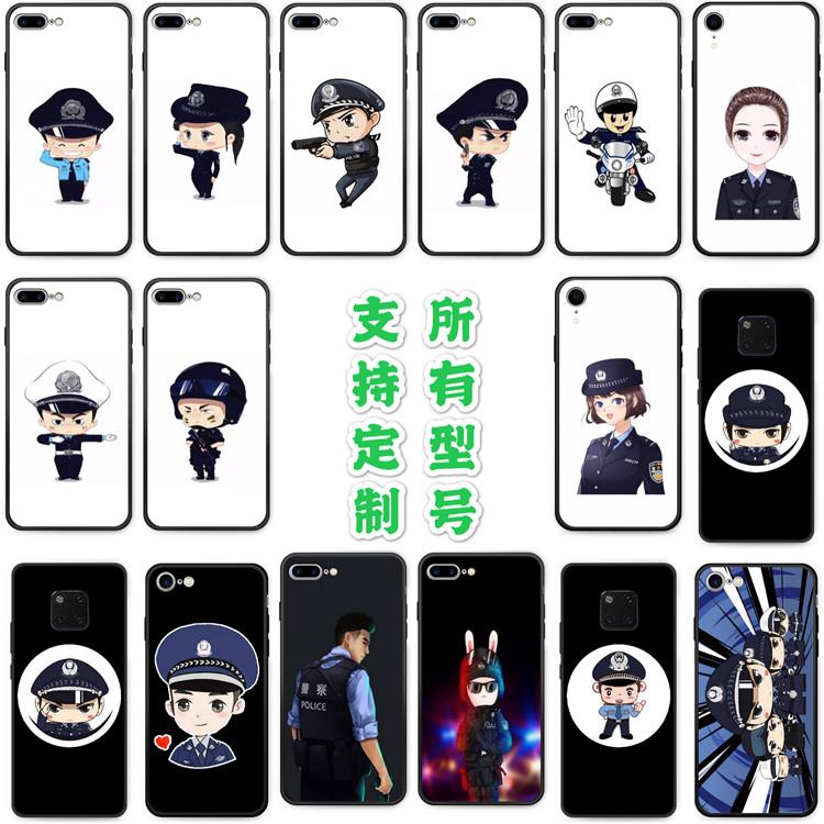 适用红米K20/K30pro/10X5G版note8T/7a/9手机壳6警察款police警方
