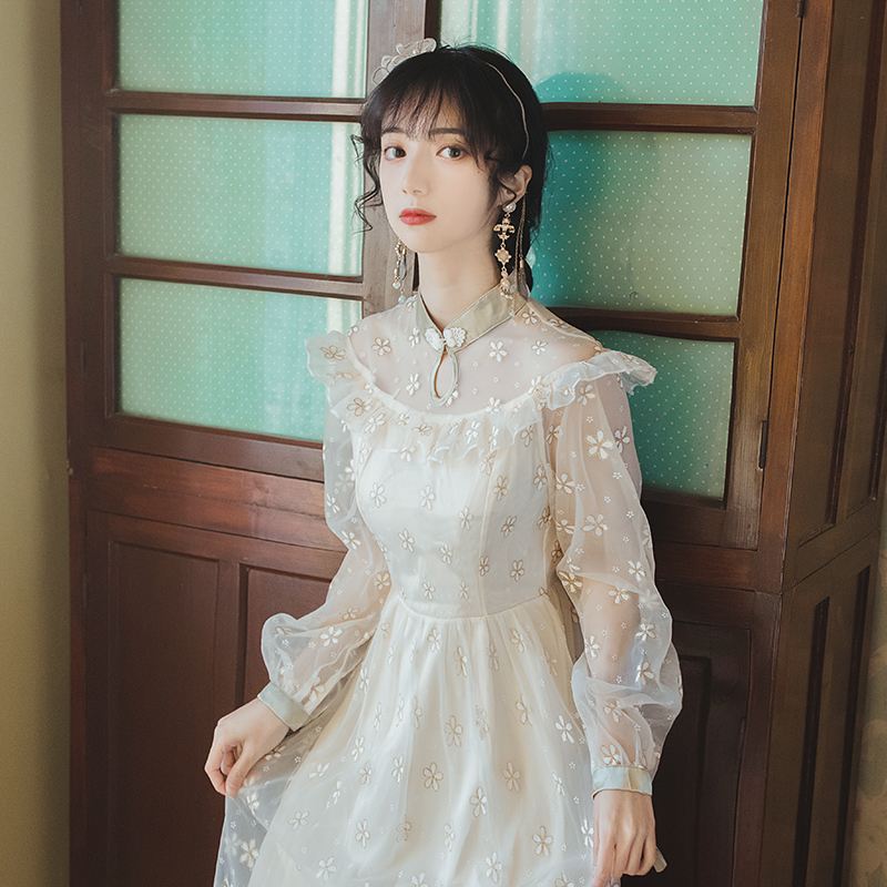 宫廷风仙女裙内搭新款气质显瘦温柔风复古裙小个子显高连衣裙超仙 ¥113元