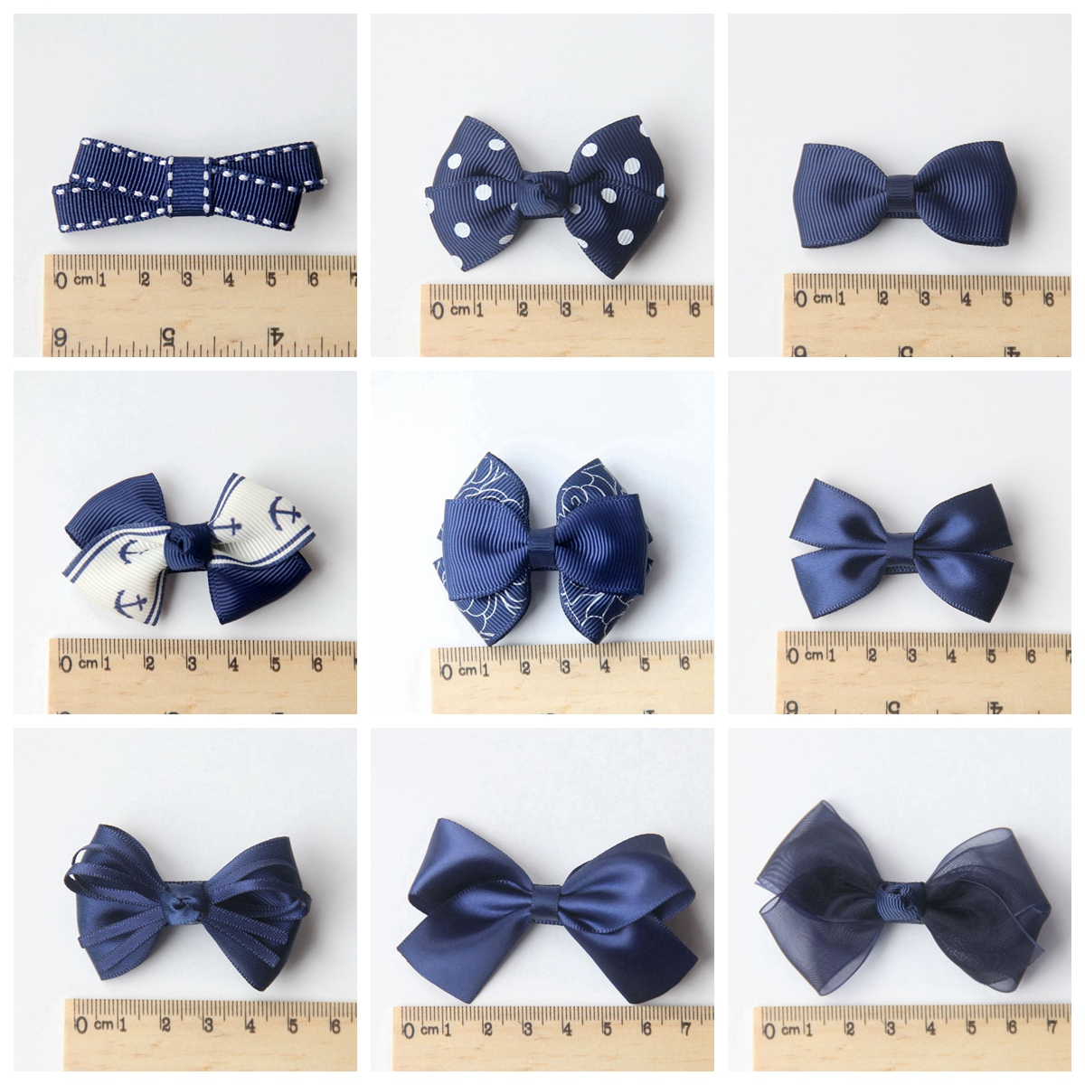 Yingzi handmade genuine new baby accessories headdress hair accessories little butterfly hairpin navy blue 370-s