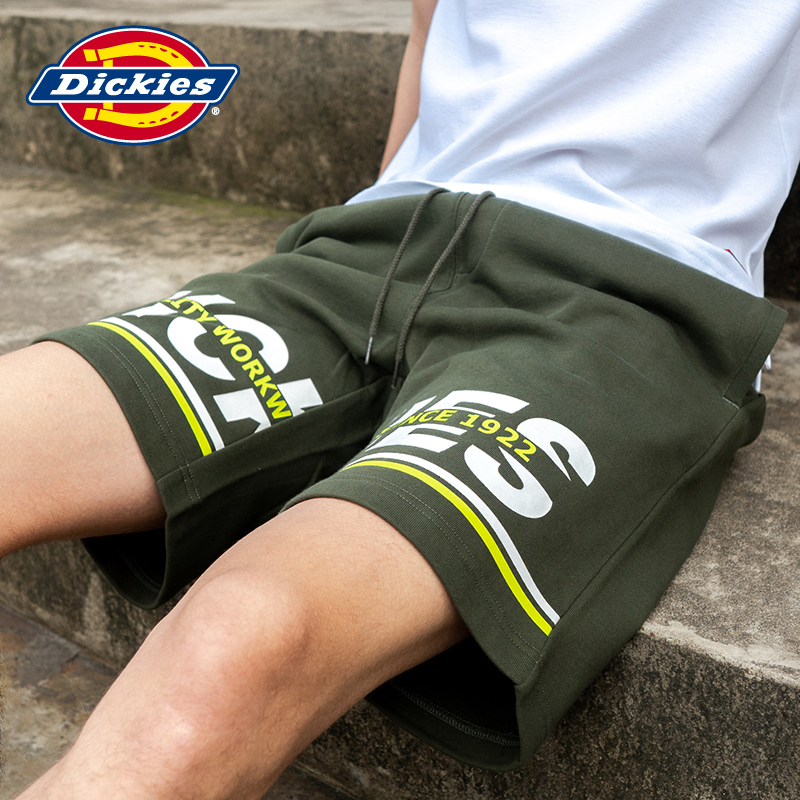 Dickies letter printed trousers shorts men's waist drawcord casual loose pants dk007340