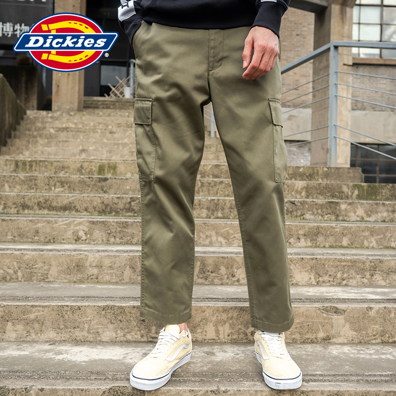 Dickies early spring new relaxed casual pants men's printed TC twill overalls dk006753