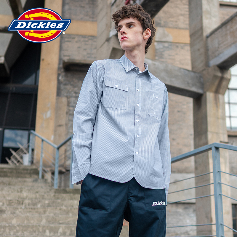 Dickies small label casual multi bag shirt men's long sleeve men's regular model tooling shirt dk007304