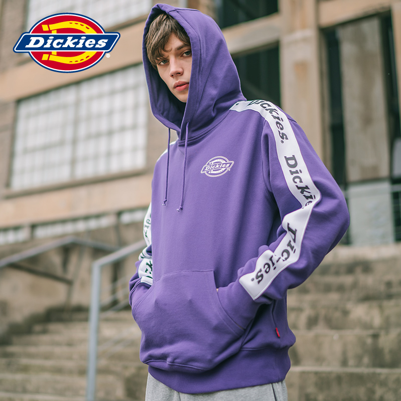 Dickies kangaroo pocket logo printed sweater spring and summer new set Hooded Sweater men dk007306