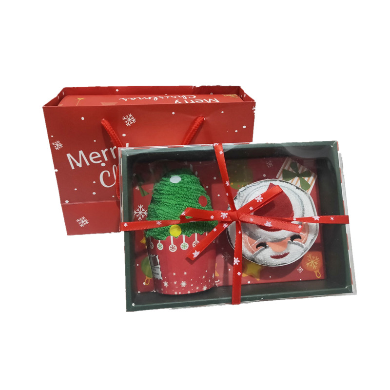 Christmas gifts cake towel creative activities advertising gifts Santa Claus Christmas tree decoration crafts