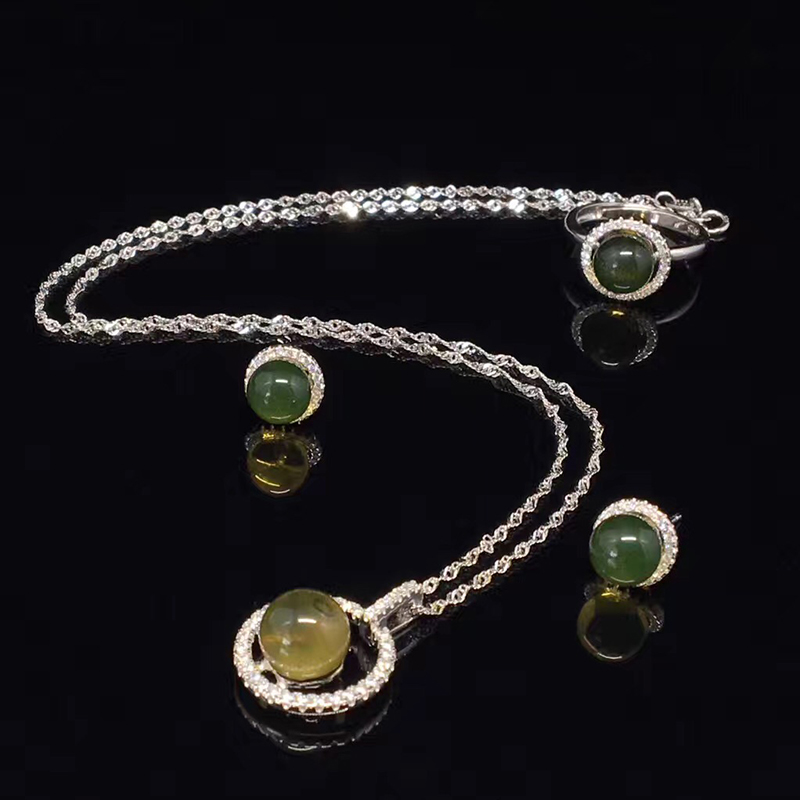 Natural raw ore non optimized Mexican Lamper Jewelry Set Sterling Silver Amber inlaid ring organic GEM PENDANT