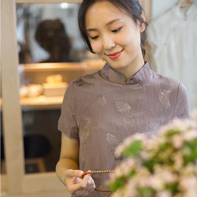艾绘馆六和原创文艺复古改良旗袍式中国风连衣裙小个子中式女装夏