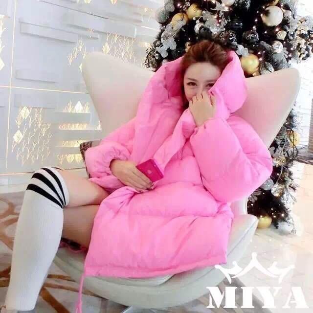 Корейская версия кокон барби розовый вниз пуховые одеяла, одежду хлопка свободный код bat рукав с длинным рукавом долго беременных женщин толстые пальто