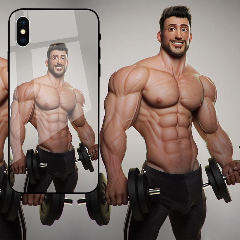 10-20新券男款欧美潮牌iPhoneXSMAX手机壳8plus苹果XR玻璃荣耀V20 Nov