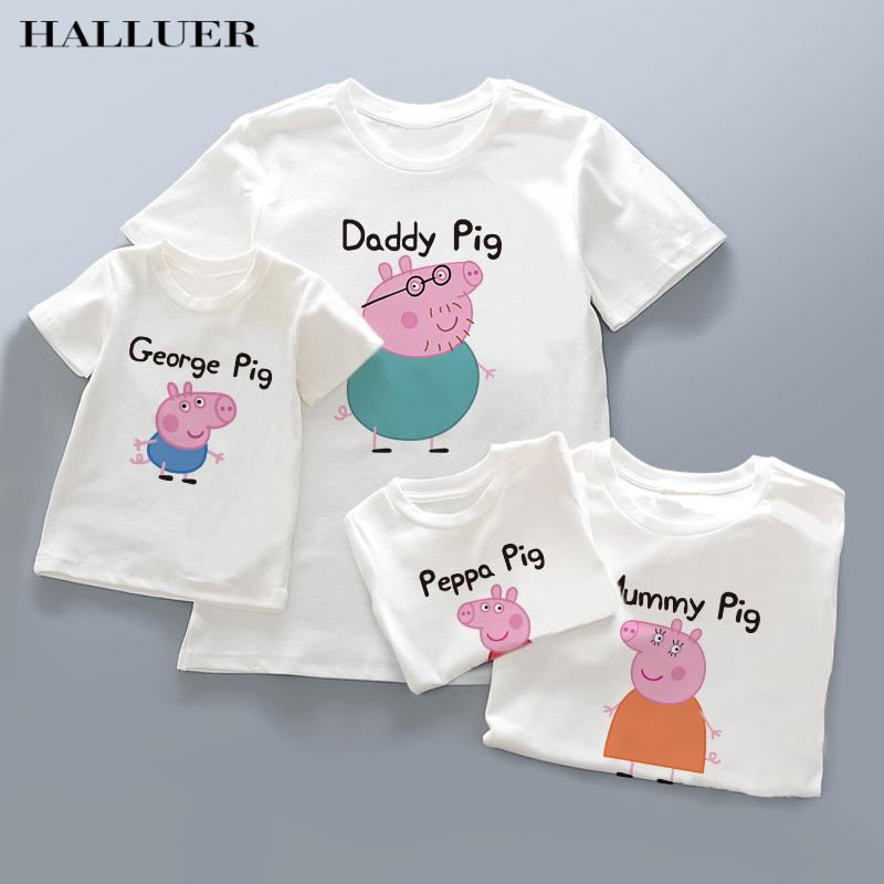 亲子装夏装2018新款潮 全家装母子母女装一家三口春装套装短袖T恤