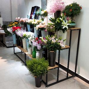 花店鲜花多肉落地式花盆架置物架