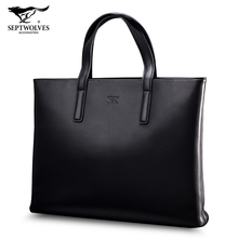 Seven Wolves Men's Handbag Business Men's Bag Large Briefcase Computer Bag Classic Fashion