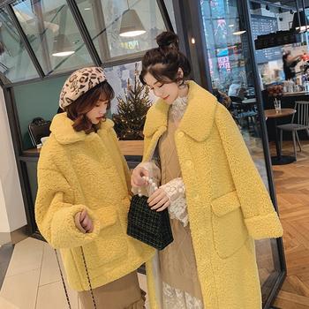 东大门羊羔毛绒外套女冬季2018韩版潮中长款百搭加厚皮毛一体大衣