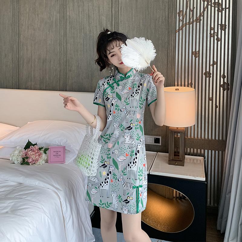 (用49.9元券)粉丝福利清仓价49.9元民国新式旗袍