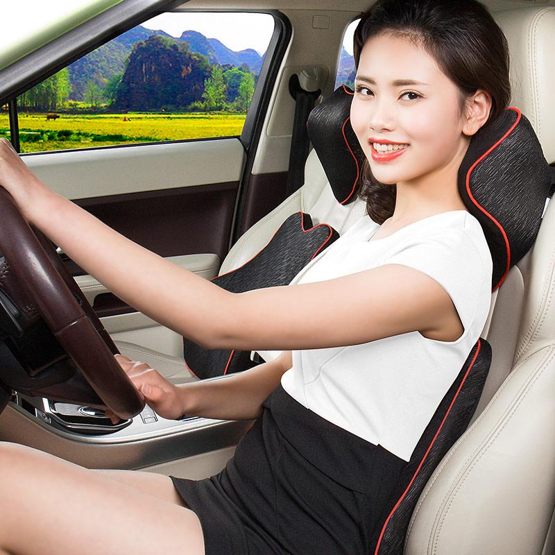 汽车头枕护颈枕靠枕车用枕头车载头枕颈枕一对车内用品记忆棉腰靠