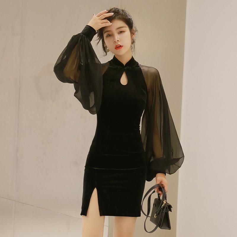 2021年新款春夏女装气质改良旗袍高端高级质感连衣裙晚宴会小礼服