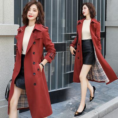 风衣时尚潮流舒适优雅双排扣2019秋季中长款气质修身显瘦女装外套