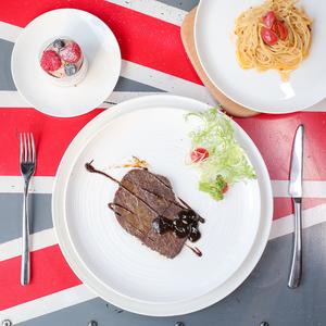 【微瑕品】清仓大甩卖骨瓷餐具欧式西餐盘家用小碗牛排大盘子平盘