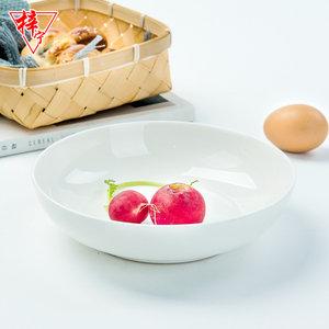 白色骨瓷酸菜鱼盆菜盘家用陶瓷饭店餐具碟子超大炒菜深大建益盘子