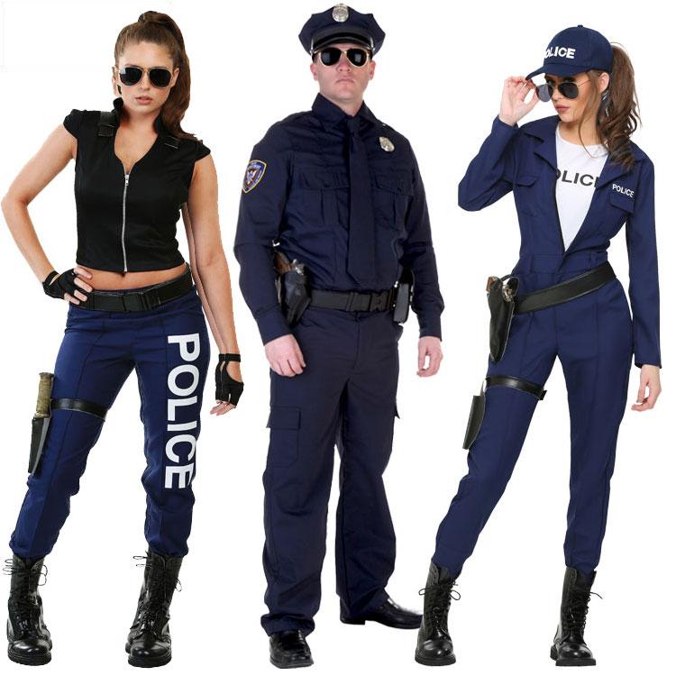 Хэллоуин этап производительность сша для взрослых ребенок роскошь мужской и женщины полиция swat угол цвет играть играть тема одежда