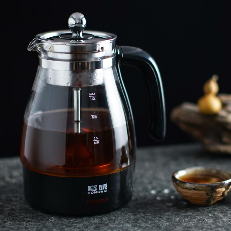 黑茶煮茶器家用养生壶煮茶壶全自动加厚玻璃喷淋式蒸汽蒸茶电煮壶