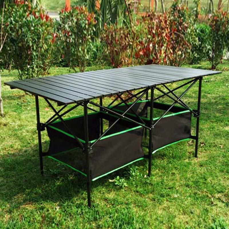 便携式可自由调节升降桌户外折叠桌子长方形折叠摆摊简易野餐桌椅