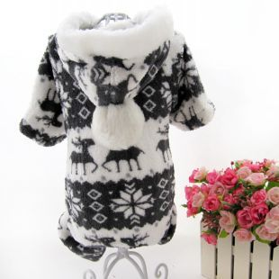 Acridine new pet clothing cat and dog clothing VIP Bomei Teddy double faced coral velvet four legged warm sweater
