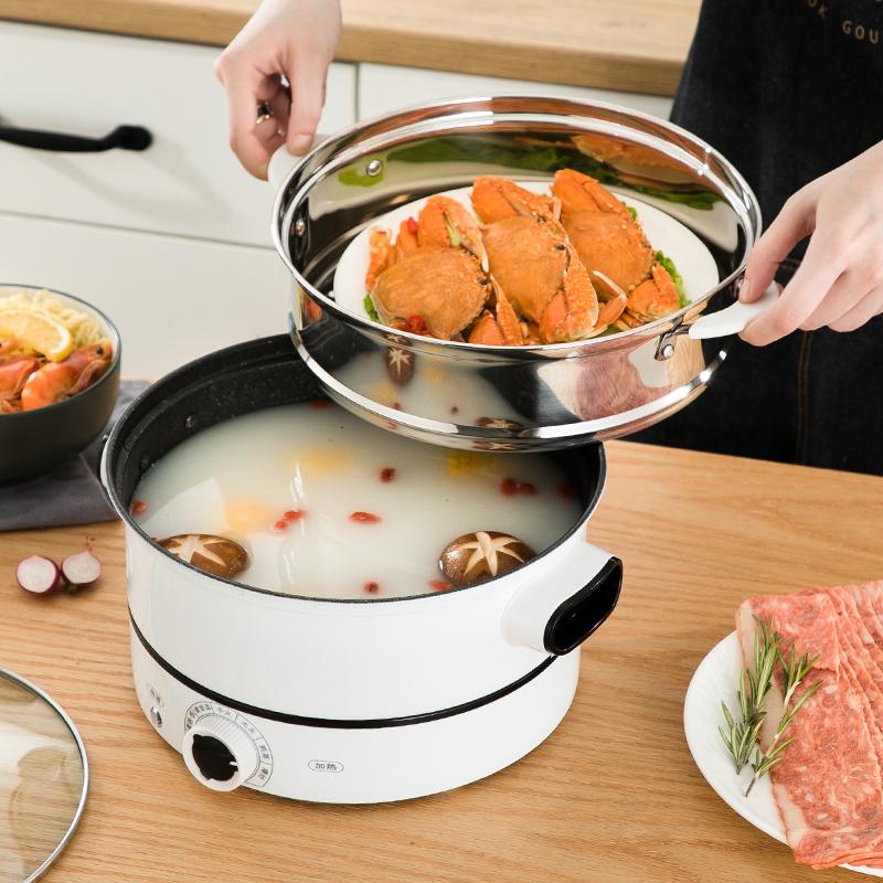 電蒸鍋多功能家用小型雙層蒸汽鍋304不銹鋼迷你蒸鍋蒸籠蒸菜神器