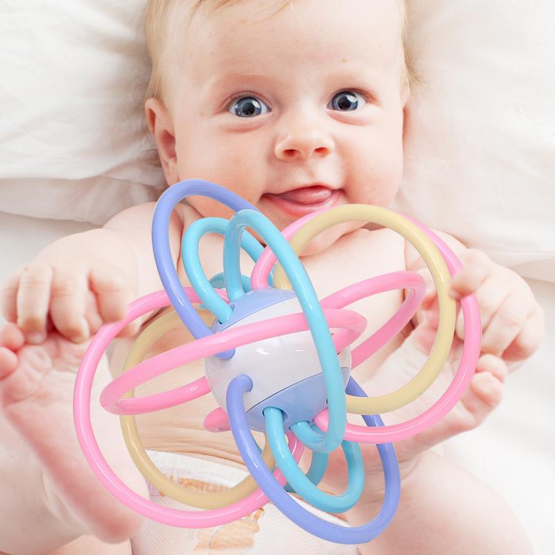 Ребенок прорезыватель молярный палка укусить резиновая рука погремушки ребенок обучения в раннем возрасте головоломка игрушка 0-1 лет человек хохотать дейтон сцепление мяч
