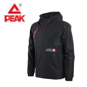 匹克/Peak风衣2019秋季新款印花薄款外套男休闲运动服装连帽上衣