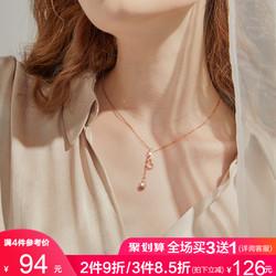 925麒麟女轻奢小众设计感银锁骨链