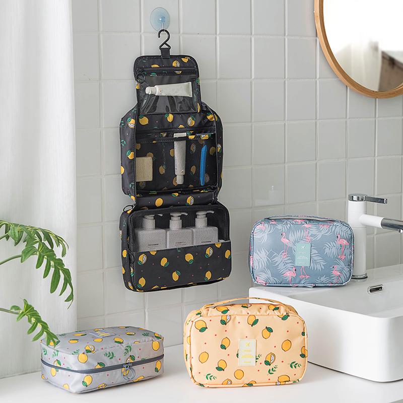 旅行出差收纳包大容量挂钩洗漱包女化妆包防水便携可折叠整理袋10-19新券