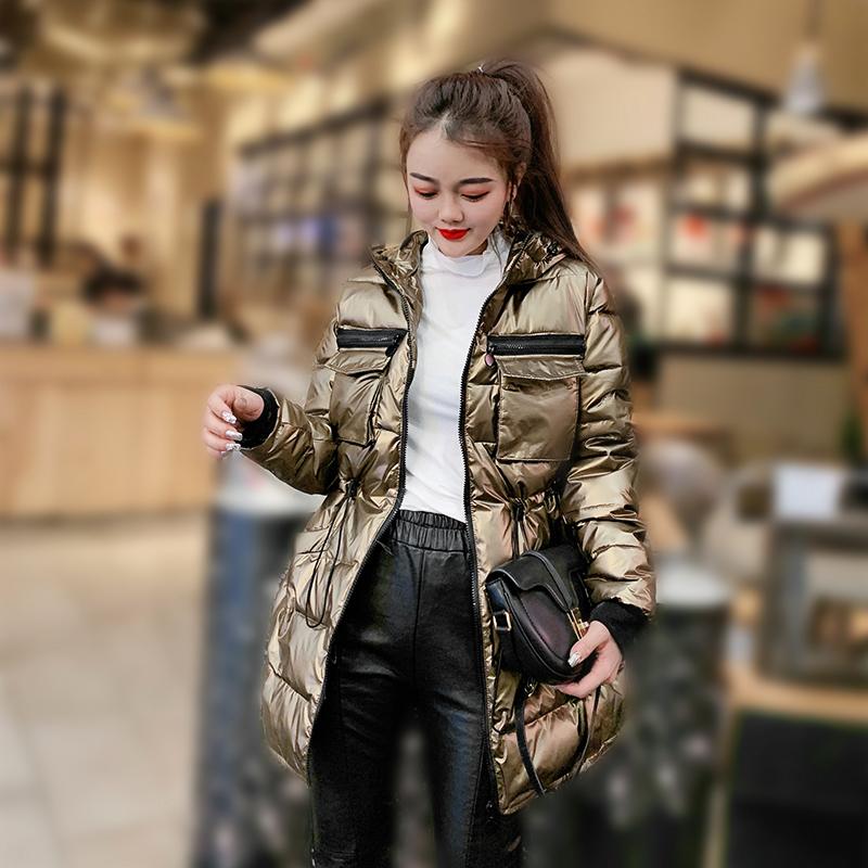 2019新款羽绒棉服女冬季多口袋工装棉衣韩版中长款面包服纯色棉袄