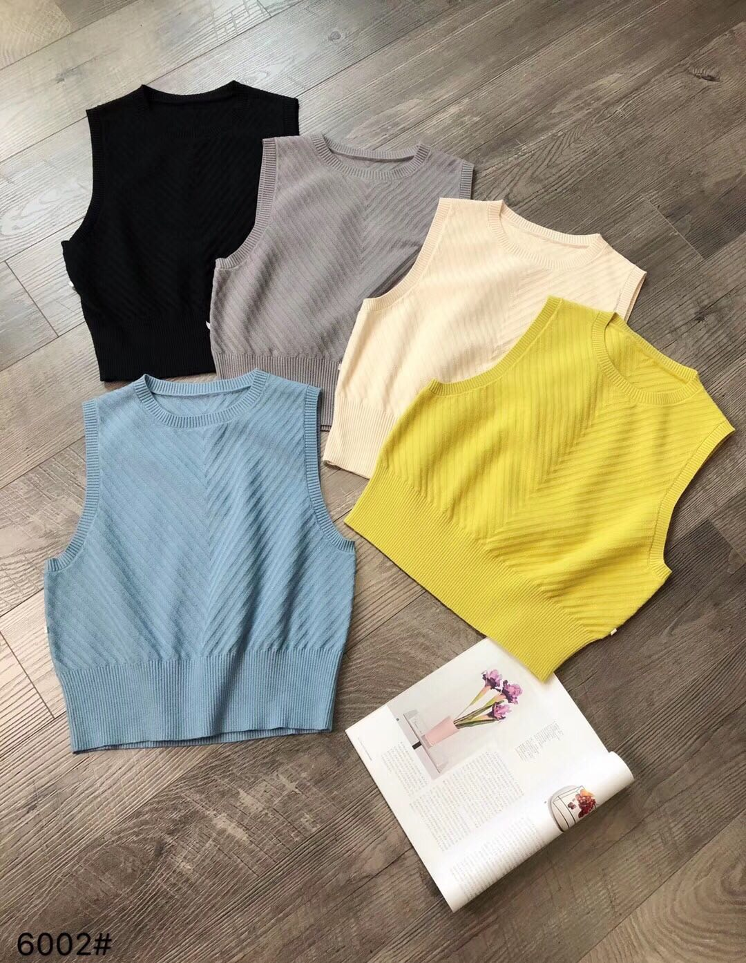 Foreign style Korean version loose and versatile thin knitted vest, pullover round neck, sleeveless vest, Camille sweater, womens autumn