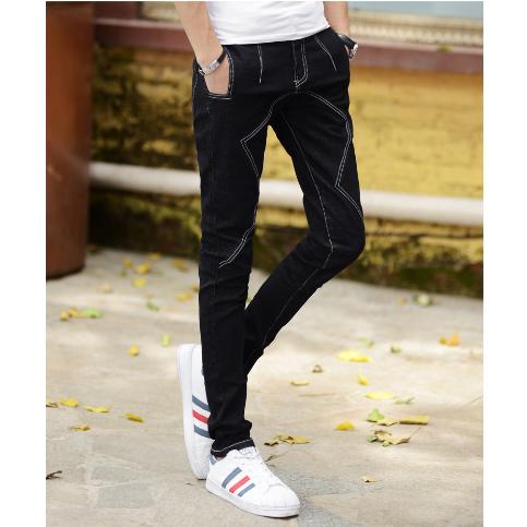 A597 P45 牛仔裤男潮牌直筒修身长裤韩版裤子男潮流修身显瘦帅气