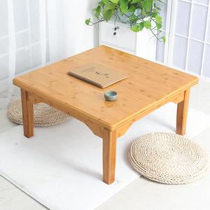 楠竹炕桌實木方桌正方形飯桌飄窗榻榻米小桌子家用床上桌茶幾矮桌