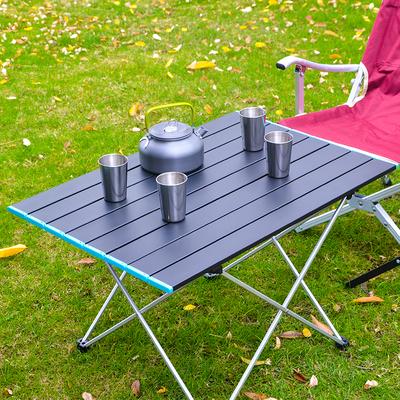户外便携超轻铝合金折叠桌野餐露营铝板桌子烧烤自驾休闲家具