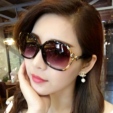 Longpal Sunglasses female 2019 star women sunglasses drivers Sunglasses extra large frame