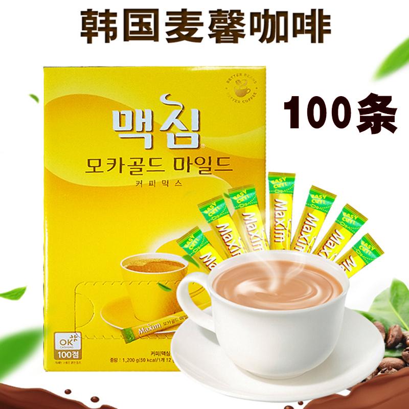 韩国进口maxim麦馨100条黄咖啡粉