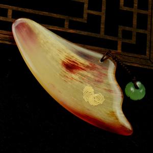 直播间纪念版天然羊角刮痧波形板脸部背部颈部刮痧经络片全身通用