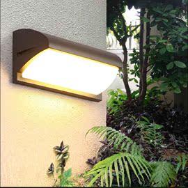 led户外防水壁灯人体感应咖色金色景观庭院花园门头灯阳台过道灯