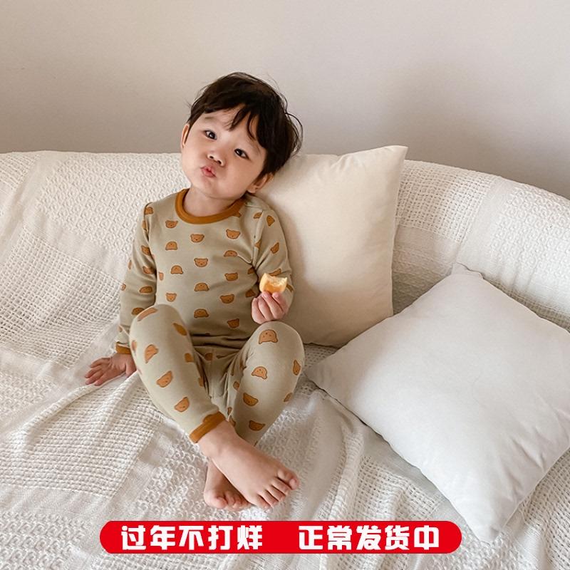儿童睡衣套装2020秋冬新款纯棉内衣男童家居服宝宝秋衣秋裤两件套