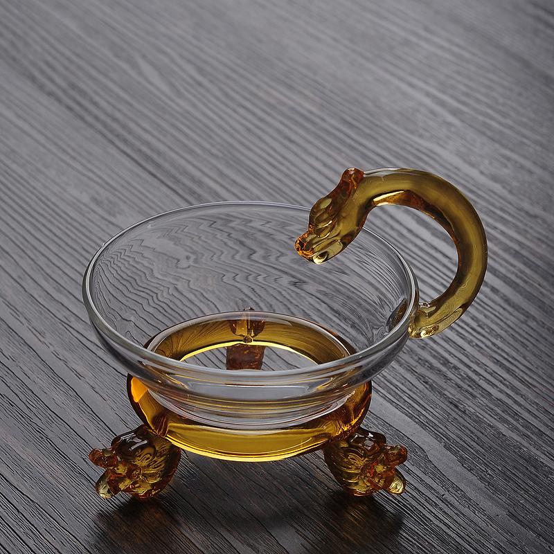 耐熱玻璃過濾網茶壺茶漏網透明功夫茶具茶道零 隔濾茶器 茶濾