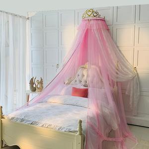 新品北欧网红ins少女心床幔床头装饰公主风双层落地家用拉链蚊帐